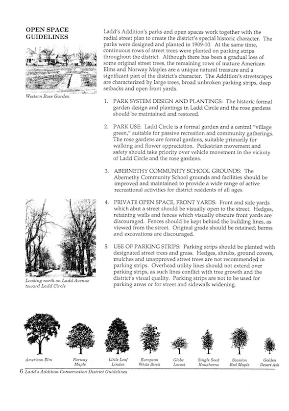 1988 Street Tree Plan, pg 1