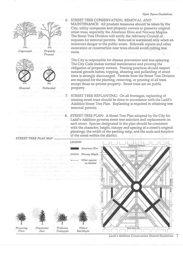 1988 Street Tree Plan, pg 2